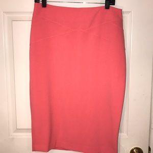 NWOT. NY & Co. 7th Avenue Peach Pencil Skirt